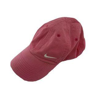 Nike Pink Baseball Hat Cap White Swoosh